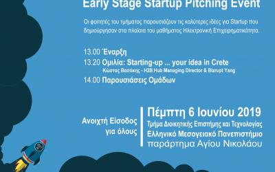 1ος διαγωνισμός Startup επιχειρηματικότητας του τμήματος Διοικητικής Επιστήμης & Τεχνολογίας